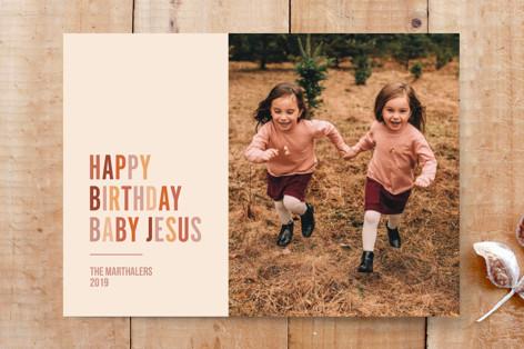 Happy Birthday Jesus Custom Stationery
