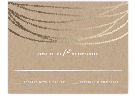 Gold Rush Foil-Pressed Mitzvah RSVP Cards