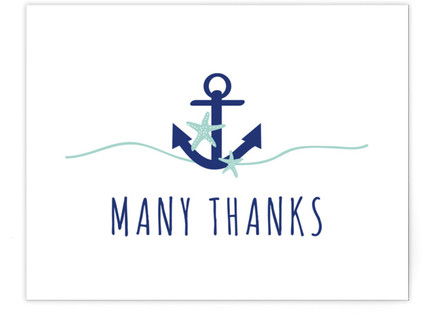 Maritime Thank You Self-Launch Baby Shower Invitations