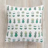 retro swim wear Pillows
