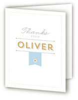 Banner Day Mitzvah Thank You Cards
