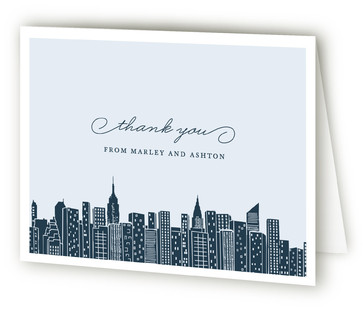 Big City - New York Moving Announcements Thank You Cards