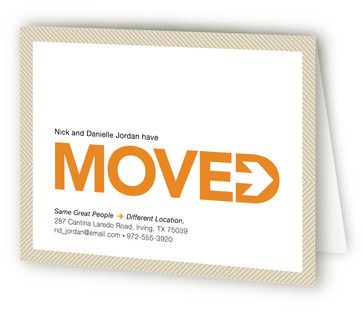 New Direction Moving Announcements Thank You Cards