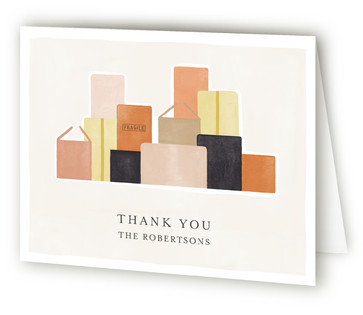 City Boxes Moving Announcements Thank You Cards
