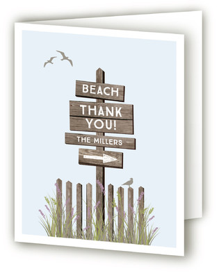 By the Shore Moving Announcements Thank You Cards