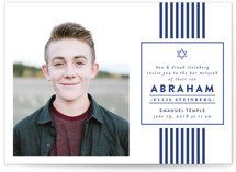 Classic Stripes Mitzvah Invitations