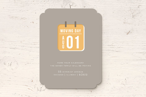 Moving Day Calendar Moving Announcements