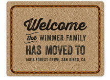 Welcome Door Mat Moving Announcements