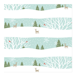 Wintry night Self-Launch Wrapping Paper