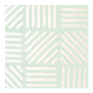 Metallic Strokes Self-Launch Wrapping Paper