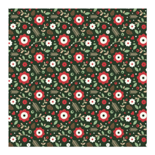 Berries and Branches Self-Launch Wrapping Paper