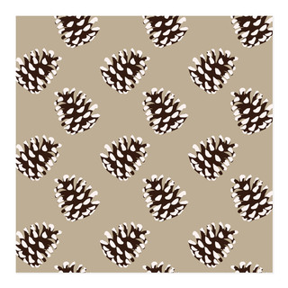 Frosted Holiday Pine Cones Self-Launch Wrapping Paper
