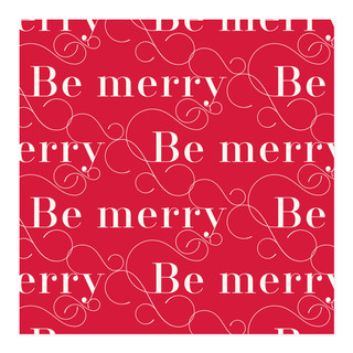 Elegant Be Merry Self-Launch Wrapping Paper