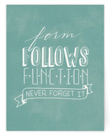 Form Follows Function Women's Flat Stationery