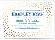 Starry Stars Foil-Pressed Mitzvah Invitations