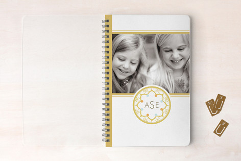 Intricate Monogram Notebooks