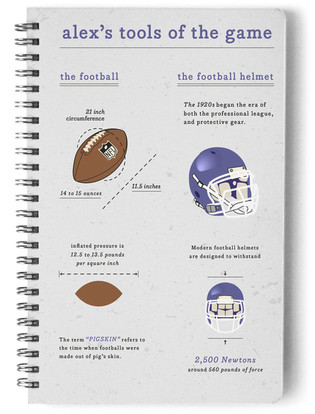 Football Gear Day Planner, Notebook, or Address Book