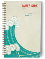 BLOCK PRINT WAVES Notebooks