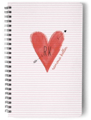 Initial Heart Day Planner, Notebook, or Address Book