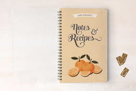 Orange Recipes Notebooks