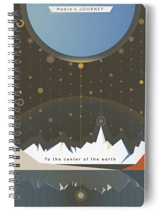 A Journey to the Center of the Earth Day Planner, Notebook, or Address Book
