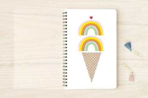 Double Rainbow Scoop Notebooks