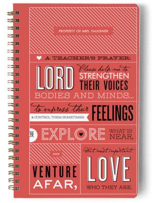 A Teacher's Prayer Day Planner, Notebook, or Address Book