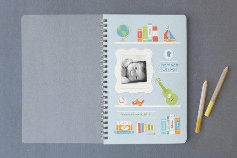 Bookends for Baby Boy Notebooks