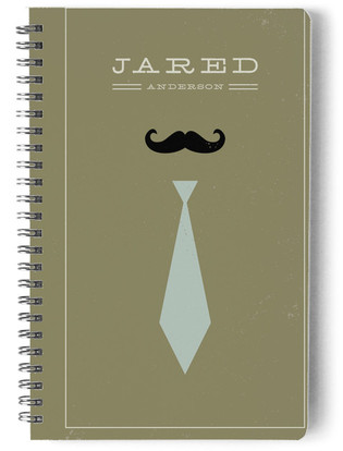 Mr. Moustache and Tie Day Planner, Notebook, or Address Book