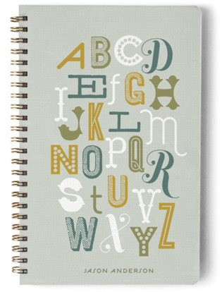 Alphabet Day Planner, Notebook, or Address Book