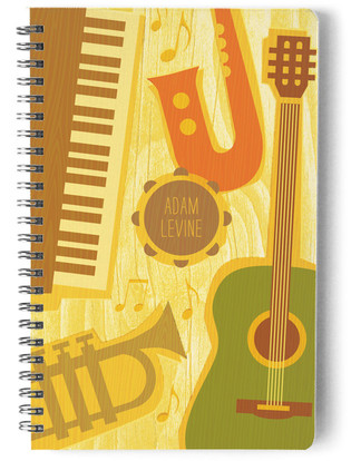 Music Notes Day Planner, Notebook, or Address Book