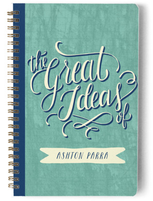Hand Lettered Great Ideas Day Planner, Notebook, or Address Book