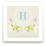 Initial Wreath Nursery Custom Art Print