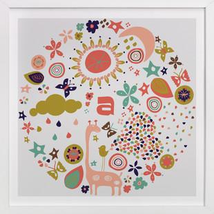 Baby Allegoria Nursery Custom Art Print