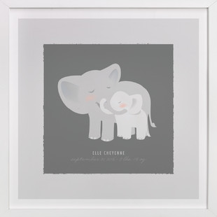 A Mother's Love - Elephants Nursery Custom Art Print