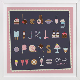 Sweet Treats Alphabet Nursery Custom Art Print