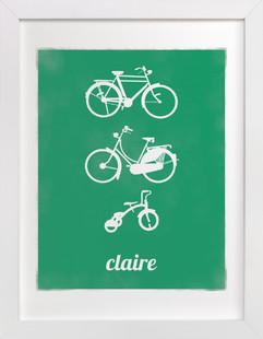 Bike Love Nursery Custom Art Print