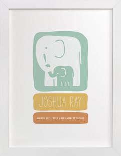 Little Elephant Nursery Custom Art Print
