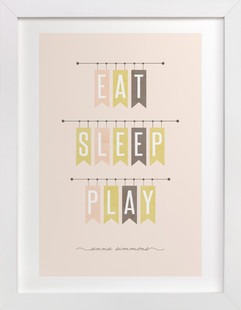Eat Sleep Play Nursery Custom Art Print