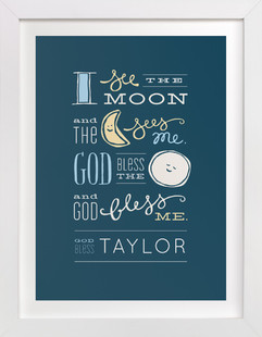 I See the Moon Nursery Custom Art Print