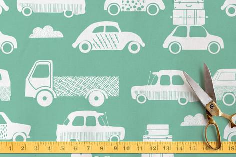 traffic JAM. Fabric