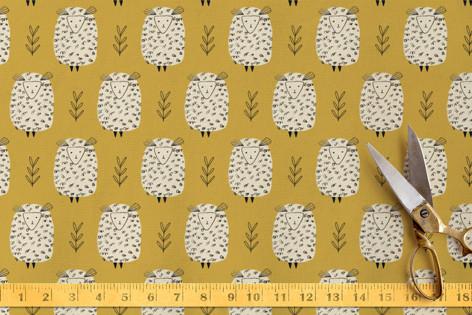 Baa Baa Cream Sheeps Fabric