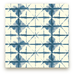Hand-dyed Shibori Diamonds Fabric