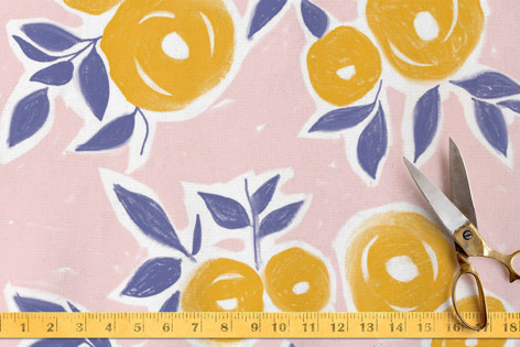 sketchy blooms Fabric