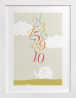 Numbers Elephant Limited Edition Art Print