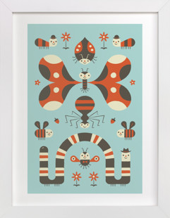 Little Buggers Nursery Art Print
