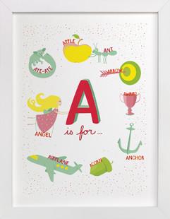 A is For Nursery Art Print