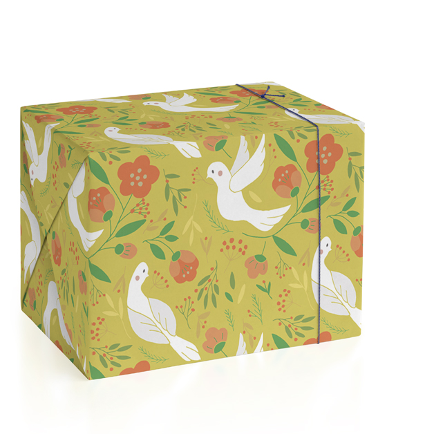 Birds Botanical Peace Wrapping Paper
