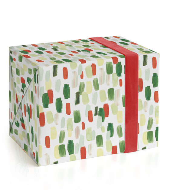 Painted Brushed Strokes Wrapping Paper