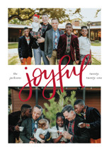 Centered Joyful Grand Holiday Cards